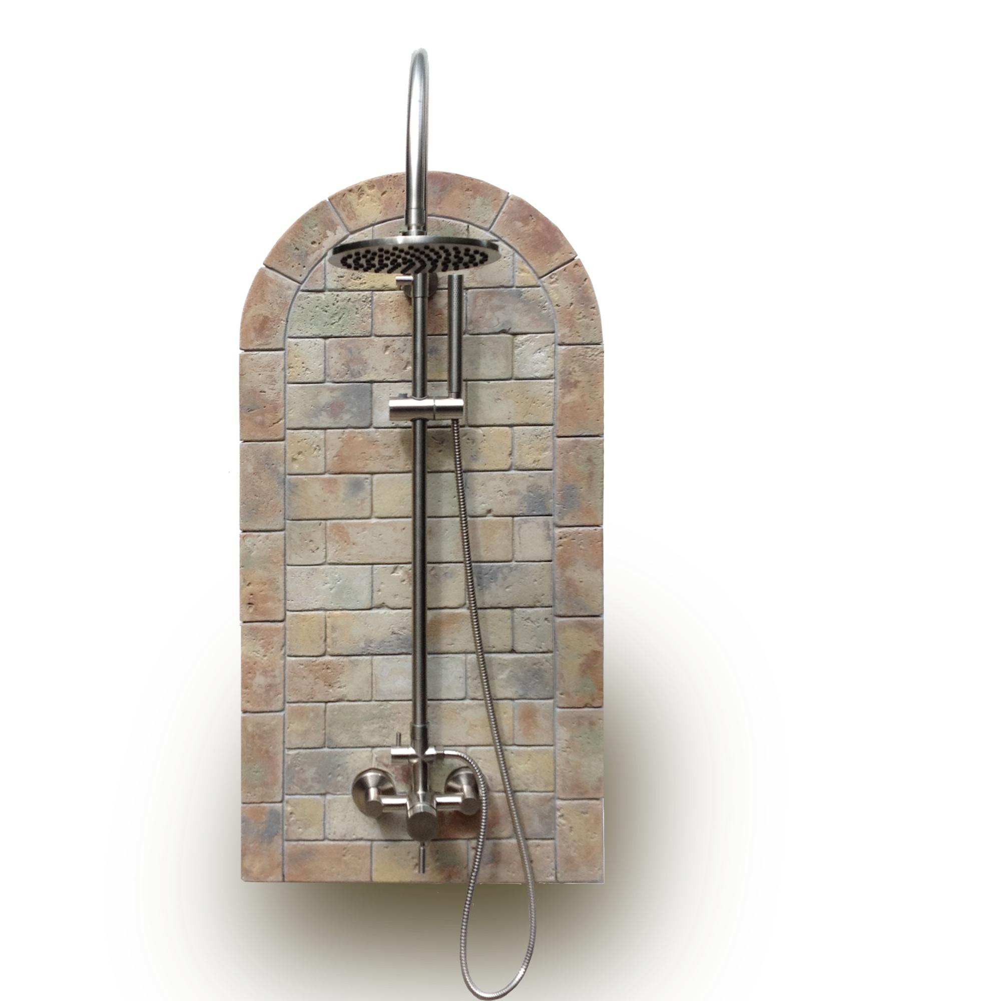 Oceanic Theme Outdoor Shower Kit Plus Portable Tank Less