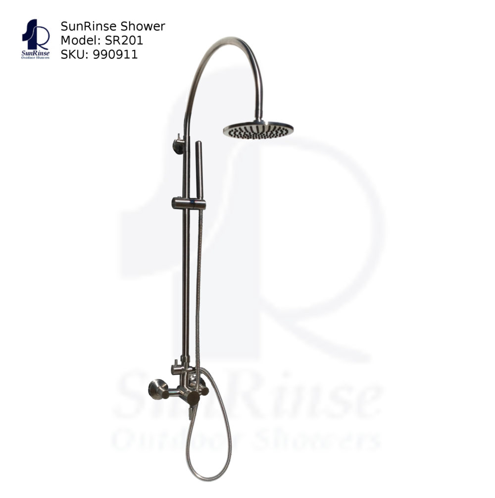 Outdoor Shower Fixture and Accessories